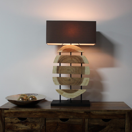 Sliced Wood Lamp