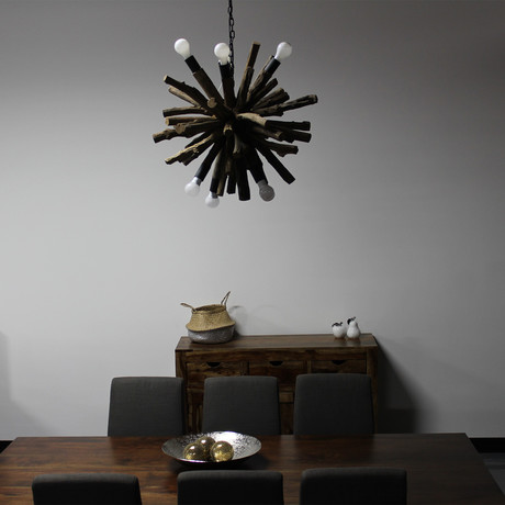 Inferno Ball Chandelier // Natural