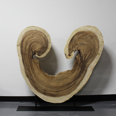 Freeform Horseshoe Wood Carving // Natural