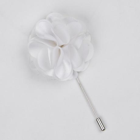 Lapel Flower // White Rose