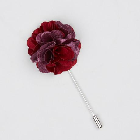 Lapel Flower // Red + Mauve