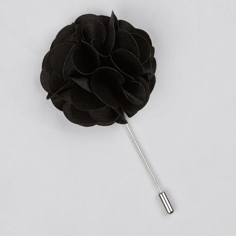 Lapel Flower // Black Rose