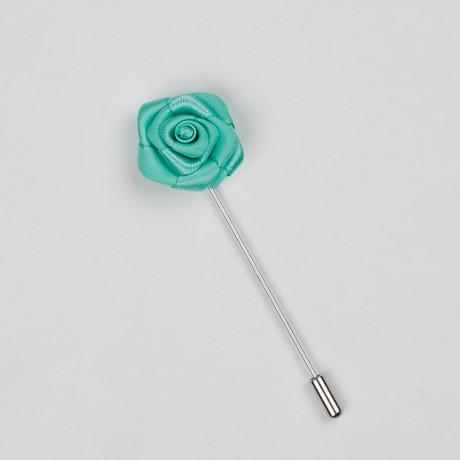 Lapel Flower // Teal Mini