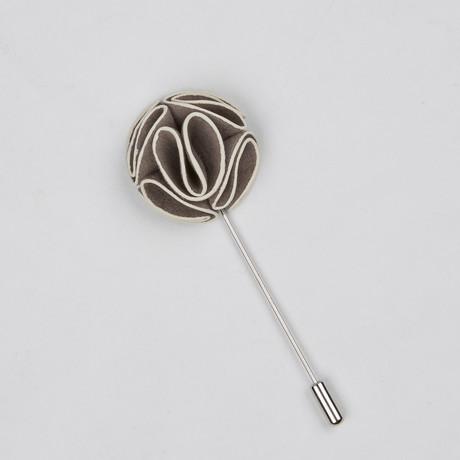 Lapel Flower // Gray + White