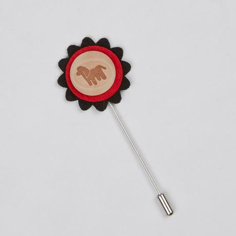 Lapel Flower // Dog Stamp