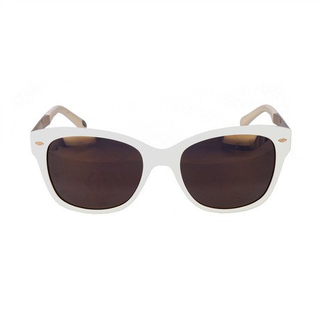 Payne Sunglass // Ivory + Light Gold