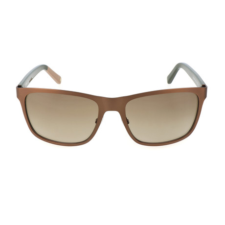 Shaw Sunglass // Matte Brown + Green