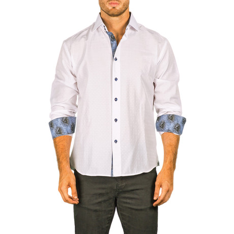 Razz Long-Sleeve Button-Up Shirt // White (XS)