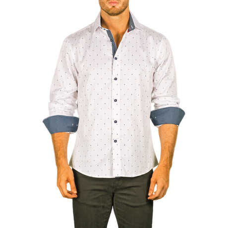 Mason Long-Sleeve Button-Up Shirt // White (XS)