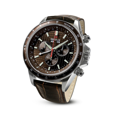 Seculus Marco Polo Chronograph Quartz // 9531.2.504F LBR SS BR