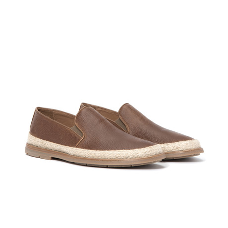 Zayn Waxy Tumbled Pull Up Loafers // Caramel (US: 7)