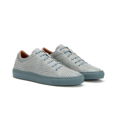 Alaric Embossed Calf Low-Top Sneakers // Medium Grey (US: 7)