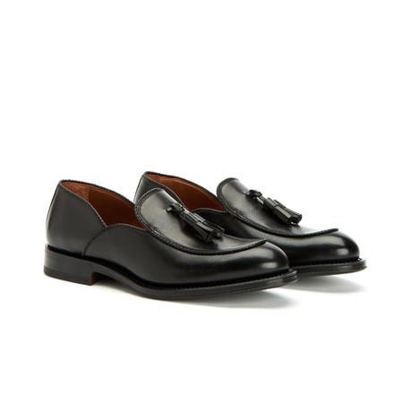 Vigo Textured Dress Calf Loafers // Black (US: 7)