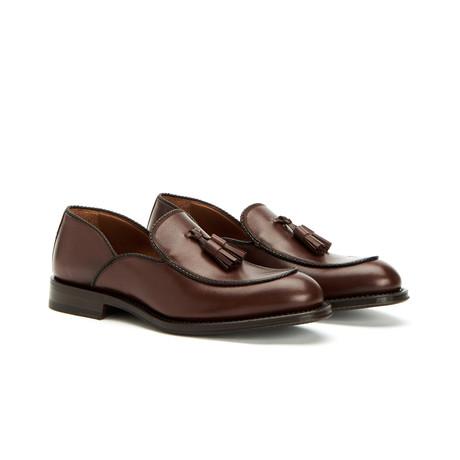 Vigo Textured Dress Calf Loafers // Dark Brown (US: 7)