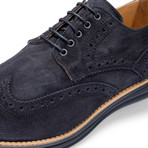 Manarola Suede Brogue // Nero (US: 11.5)