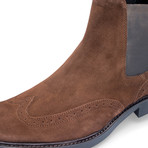 Bresica Suede Chelsea Boot // Chocolate (US: 10.5)