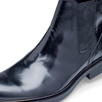Bari Leather Chelsea Boot // Nero (US: 10)