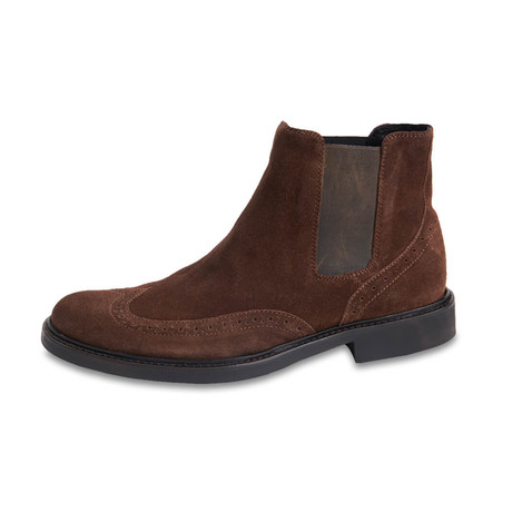 Bresica Suede Chelsea Boot // Chocolate (US: 8)