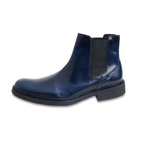 Bari Leather Chelsea Boot // Blue (US: 8)