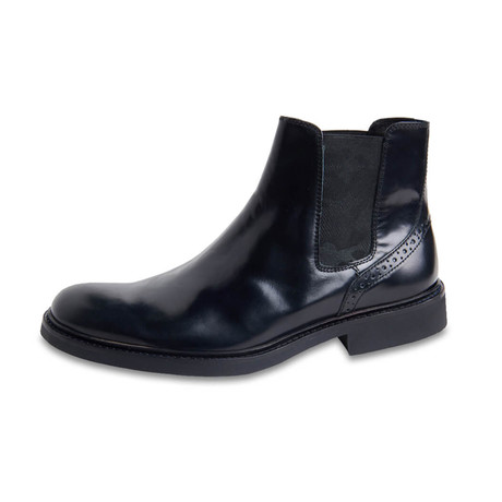 Bari Leather Chelsea Boot // Nero (US: 8)