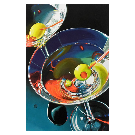 "Two Martinis (11""W x 16.5""H)"