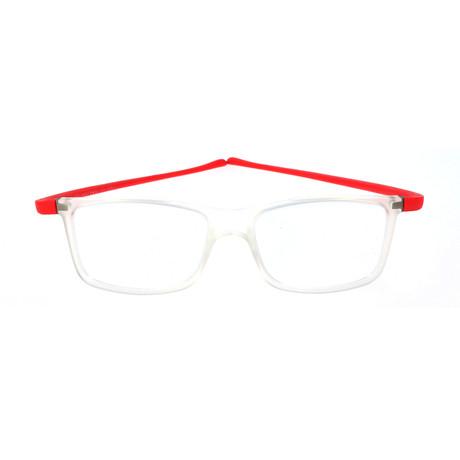 Rivet Frame // Crystal + Red