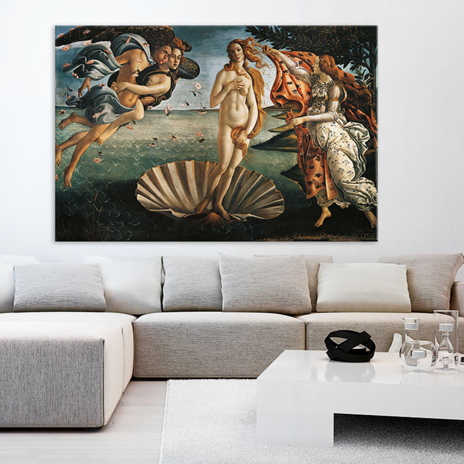 sandro botticelli la naissance de v nus giant art touch of modern. Black Bedroom Furniture Sets. Home Design Ideas