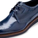 Lazio Leather Derby // Navy (US: 9.5)