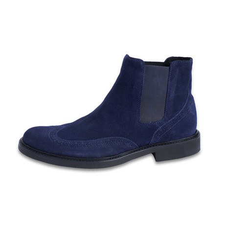 Bresica Suede Chelsea Boot // Blue (US: 8)