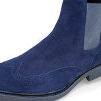 Bresica Suede Chelsea Boot // Blue (US: 8.5)