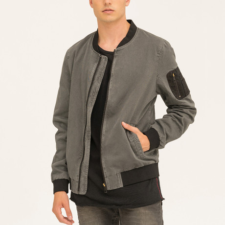 Vince Bomber Jacket // Anthracite (S)