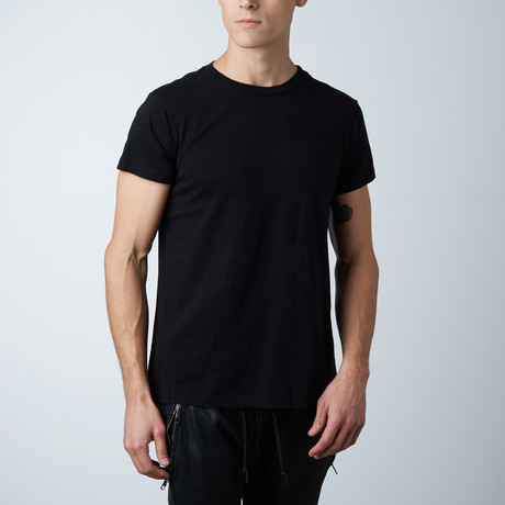 Essentials Hi-Lo Crew Neck Tee // Black (XS)