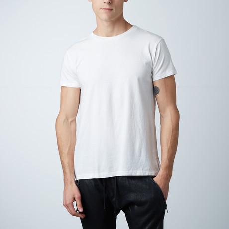 Essentials Hi-Lo Crew Neck Tee // White (XS)