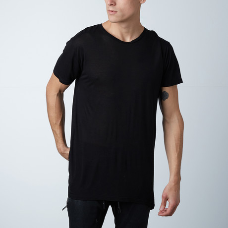 Modal Silk Clean Tee // Black (XS)
