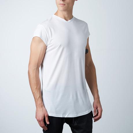 Modal Silk Cap Tee // White (XS)