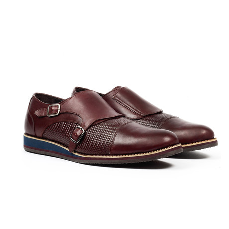 Monk Strap Dress Shoes // Dark Brown (US: 6)