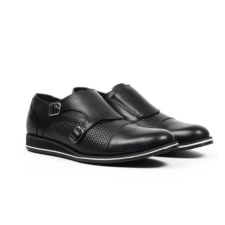 Monk Strap Dress Shoes // Black (US: 6)