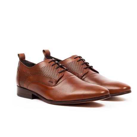 Fashion Derby Dress Shoes // Cognac (US: 6)