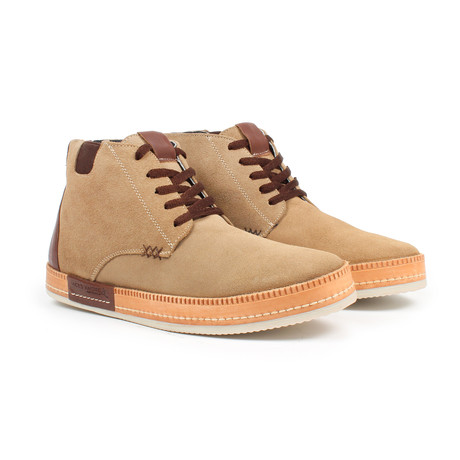 Lace-up Sneaker Boot // Sand (US: 6)
