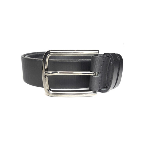 "Stripes Belt // Black (Size 30"")"