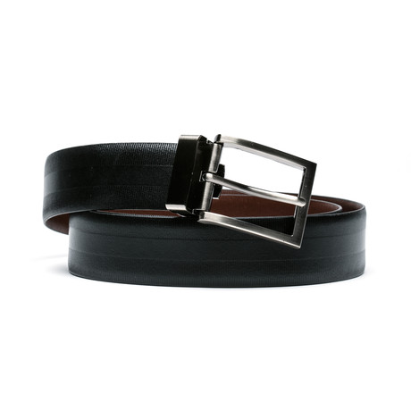 "Ridge Belt // Black + Brown (Size 30"")"