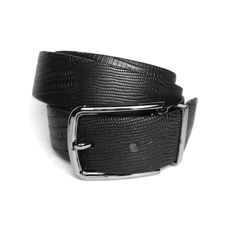 "Croc Belt // Black (Size 30"")"