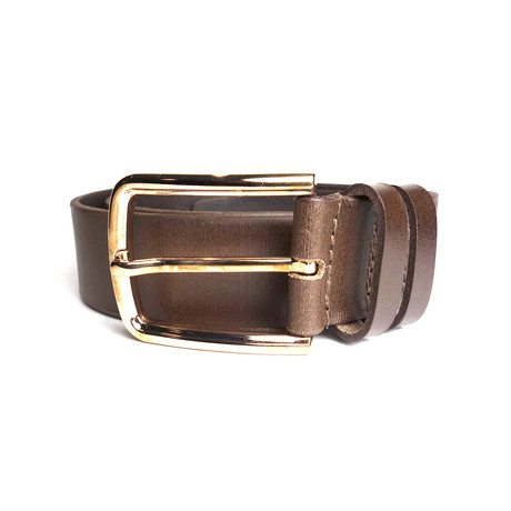 "Stripes Belt // Brown (Size 30"")"