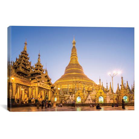 "Golden Shwedagon Pagoda, Burma (26""W x 18""H x 0.75""D)"
