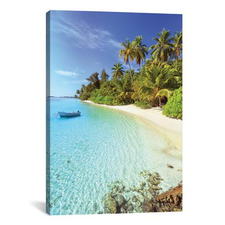 """Idyllic Beach, Maldives (18""""W x 26""""H x 0.75""""D)"""
