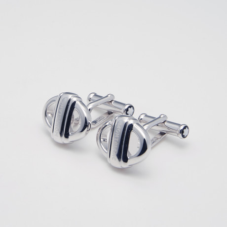 Meisterstuck 3 Rings Cuff Links // Silver