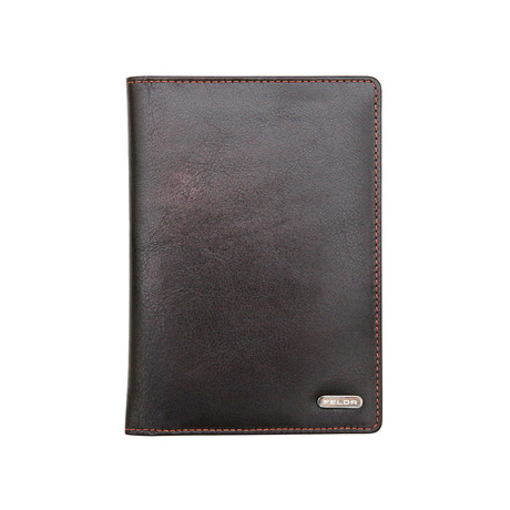 Gunther Passport Wallet // Dark Brown