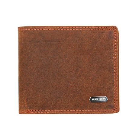Leslow Bi-Fold Wallet // Brown