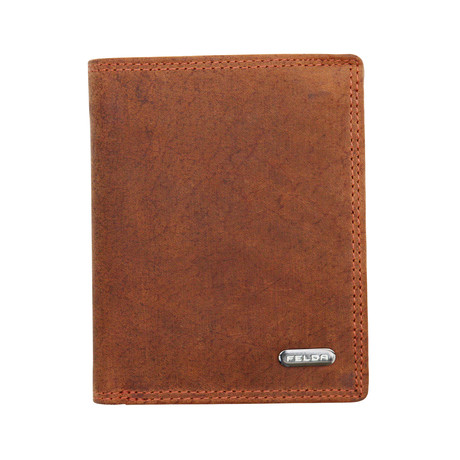 Gereith Bi-Fold Wallet // Brown