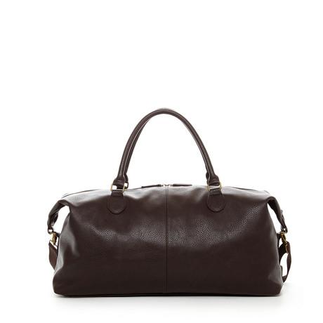 Gunner Vegan Leather Duffle Bag // Brown